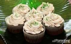 Stout beer cupcakes with Irish cream frosting by @allParenting