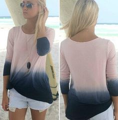 $20.00 | Fashion gradient Long-sleeved T-shirt  8526154