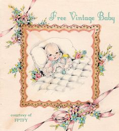 free vintage baby printables | Free Vintage Baby Clip Art | Free Pretty Things For You
