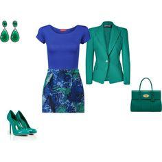 """Clear Winter - blue/green"" by adriana-cizikova on Polyvore"