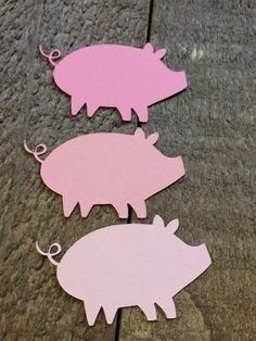Pink Pig Table Confetti Farm Barnyard Animal Theme Birthday
