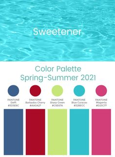 Trend Color Palette Spring-Summer 2021 Sweetener #color #trends