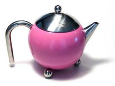 Painted Henley - 27oz teapot with no drip spout.  Includes mesh infuser.