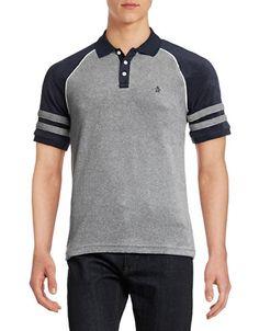 Men | Men | Raglan Terry Polo Shirt | Hudson's Bay Polo Vest, Polo Rugby Shirt, Polo T Shirts, Men's Polo, Polo Shirt Design, Polo Design, Polo Shirt Colors, Mode Polo, Tartan Men