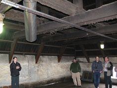 Inside the Laphroaig kiln, Check out the state of the beams