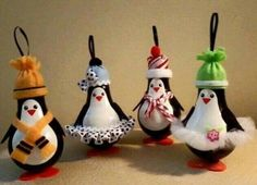 A little paint, felt, and scraps of ribbon turn used light bulbs into one-of-a-kind Christmas ornaments! Fun craft for a party especially if you pre-paint the bulbs and then kids just have to decorate. Diy Christmas Ornaments, How To Make Ornaments, Homemade Christmas, Christmas Projects, Holiday Crafts, Christmas Holidays, Lightbulb Ornaments, Penguin Ornaments, Christmas Ideas