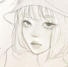 Pretty Drawings, Cool Art Drawings, Pencil Art Drawings, Sketchbook Drawings, Anime Drawings Sketches, Aesthetic Drawing, Aesthetic Art, Art Folder, Anime Kawaii