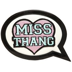 Sophia Webster Women Miss Thang Speech Bubble Leather Clutch (€380) ❤ liked on Polyvore featuring bags, handbags, clutches, leather handbags, embroidered purse, real leather purses, 100 leather handbags and genuine leather handbags