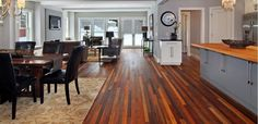 Wood pallets = reclaimed flooring