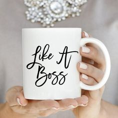 Every Boss Lady knows that you get everything done... Like A Boss! ♥ 11oz Ceramic Coffee Mug♥ Dishwasher + Microwave Safe♥ Design on Front This is a PREORDER that will ship by July 18th! #JessLeaBoutique