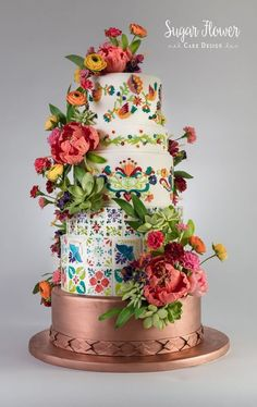 Sugar Flower Cake Design specializes in delicious wedding cakes, custom cakes, celebration cakes, and ​sugar flowers. Elegant Wedding Cakes, Elegant Cakes, Beautiful Wedding Cakes, Wedding Cake Designs, Beautiful Cakes, Floral Wedding, Lace Wedding, Purple Wedding, Fruit Wedding
