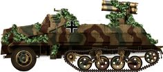 """Sd.Kfz.4/1 Panzerwerfer (1944): This vehicle was nicknamed the """"Screaming Mimi"""" and delivered HE rounds with fragmentation projectiles. Mass volleys of these had devastating consequences on any target, especially infantry. The fire density was more efficient and terrifying than a classic artillery barrage."""