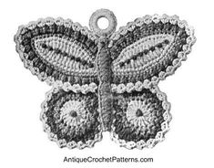 Butterfly Potholder Free Pattern