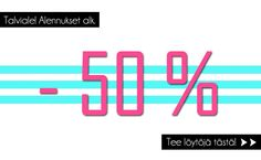Now is the time to buy some fashion jewellery! BIG SALE with at least -50% - www.westyle.fi