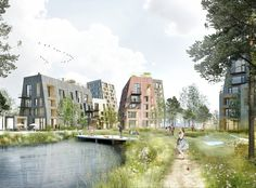 Image 1 of 9 from gallery of C.F. Møller's Proposal for the Örebro Timber Town Blurs the Line Between City and Nature. Photograph by C.F. Møller