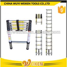 2017 new easy to Extend and Folded telescopic meter aluminium ladder as seen Aluminium Ladder, Telescope, Storage, Easy, Larger, Telescope Craft, Storage Ideas
