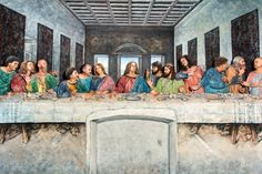 """Performers at the Pageant of the Masters in Laguna Beach pose as """"The Last Supper,"""" by Leonardo da Vinci. https://www.youtube.com/watch?v=lON22maCtlg"""