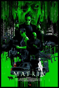 The Matrix Glow-in-the-Dark Poster - Vance Kelly