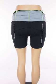 LULULEMON Velo Vixen Short 12 L Black Gray Cycling Bike Ruffle Padded #Lululemon #Shorts