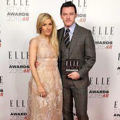 @elleuk - Luke Evans wins Actor of the Year, presented by Ellie Goulding #ELLEStyleAwards @hm - picgist.com
