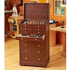 Heirloom Rolling Tool Cabinet Shop Cabinets, Shop Plans, Cabinet Storage,  Wood Magazine,