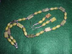 Olive New Jade Gemstone Necklace and Earring Set | jazznitup - Jewelry on ArtFire