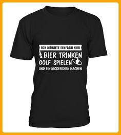 Nickerchen Bier trinken und Golf spielen - Golf shirts (*Partner-Link)