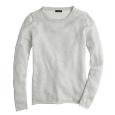 Collection cashmere sparkle long-sleeve tee in nickel silver | J.Crew