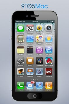 Just a creation to imagine an iPhone 5 with 16:9 screen