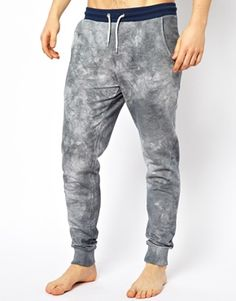 ASOS Slim Fit Lounge Sweatpants With Tie Dye