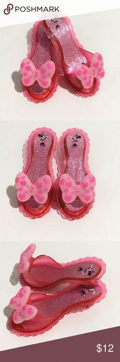 4c6b72023522a4 Girls Disney Minnie Mouse Pink Dress Up Shoes Girls Disney Minnie Mouse  plastic dress up shoes