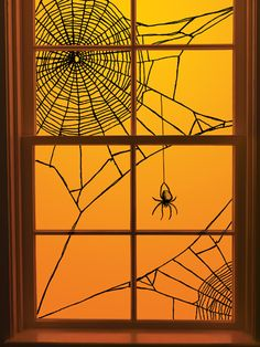 martha stewart crafts halloween window clings spiderweb corner