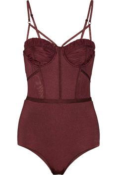 ZIMMERMANN Instinct mesh-paneled underwired swimsuit $360   Size Guide   EDITOR'S NOTES The hourglass silhouette of Zimmermann's swimsuit is...