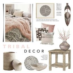"""Tribal Decor"" by c-silla ❤ liked on Polyvore featuring interior, interiors, interior design, home, home decor, interior decorating, Chatham, Crate and Barrel, Zestt and NOVICA"