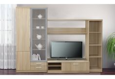 details zu domina caris moderne wohnwand wei sanremo. Black Bedroom Furniture Sets. Home Design Ideas