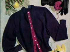 ($1.75) This pattern for 3 pairs of knitted gloves and 1 pair of crocheted gloves originated in the Stitchcraft April 1952 magazine. The pattern are highlighted in the download of this magazine as other patterns from the source may be included but not complete (not the glove patterns are complete patterns for all 4 pairs) The patterns include black shorties (knit), spotted gloves (knit), Yellow and white gloves (knit), and striped gloves in crochet.