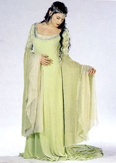 Arwen. - I love this dress. It's just right for August's birth stone color!
