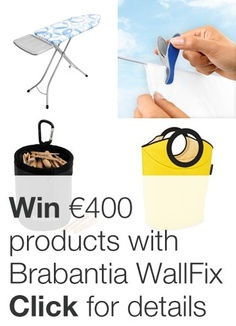Competition Time! Take part in our #WallFixexperience competition for a chance to win a combined value of €400 worth of Brabantia laundry products. Terms and conditions at http://www.brabantialife.com/pinterest-competition-terms-and-conditions/ - c/d 30.6.13