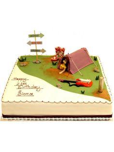 Music Festival Birthday Cake