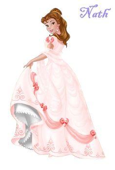 Disney- mes tubes - (page - passionimages - Beauty & the Beast - Disney Pixar, Disney Fan Art, Disney Animation, Disney Cartoons, Walt Disney, Disney Princesses And Princes, Disney Princess Dresses, Princess Art, Barbie Princess