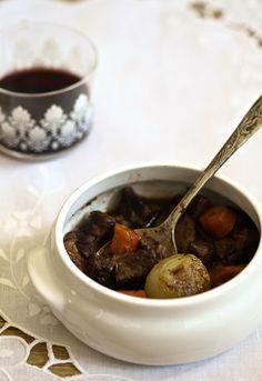 Receta 733: Guisada con vino tinto (bourguignon, estilo francés) » 1080 Fotos de cocina