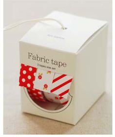 Nuage Fabric Masking Tape - Red Ribbon - Set 3. $18.00, via Etsy.