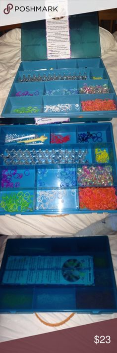 Rainbow Loom and Case Includes everything in the picture. Has S and C clips. Various colors and designs you can make. Perfect for a gift Accessories