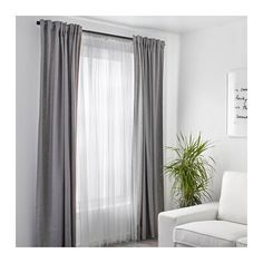 LILL Net curtains, 1 pair  - IKEA