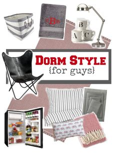 Red and gray dorm decor style ideas for guys | 11 Magnolia Lane