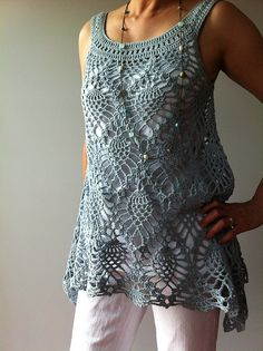 Ravelry: Jordan - sleeveless pineapple top pattern by Vicky Chan