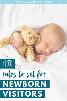 If you are a new or first time mom you'll want to read these helpful tips and ideas for setting rules for anyone that visits your newborn baby! Sharing your new baby with family and friends is part of the new motherhood joy but there are some things you need to ensure to keep your baby safe when welcoming new visitors // Mas And Pas -- #firsttimemom #newmomtips #newbornbaby #motherhoodtips #newmomadvice Pregnancy Advice, Pregnancy Stages, Newborn Baby Care, Newborn Babies, Newborn Schedule, Parenting Websites, New Sibling, Newborn Essentials, Breastfeeding And Pumping