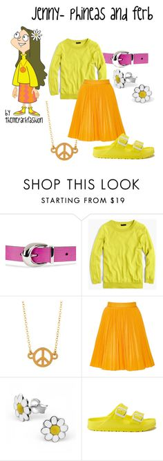 """""""jenny- phineas and ferb"""" by themeparkfashion ❤ liked on Polyvore featuring Guide London, Lauren Ralph Lauren, J.Crew, Kris Nations, MSGM, Lisa Angel and Birkenstock"""