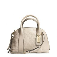 The Bleecker Mini Preston Satchel In Signature Embossed Leather from Coach