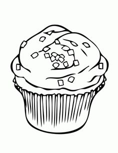 Cupcake With Square Sprinkles Coloring Page Cat Cupcakes Ice Cream